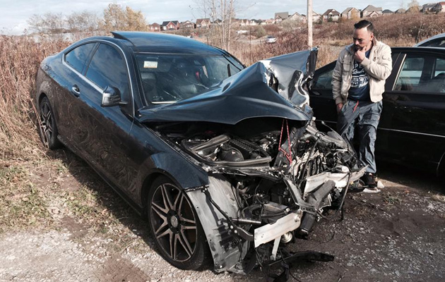 accidente automovilístico en toronto